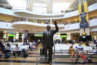 Johannesburg, Südafrika,  O. R. Tambo International Airport, Ankunftshalle