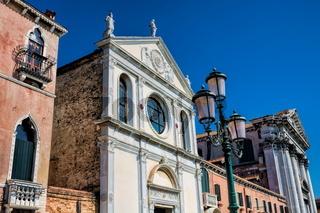 Churches at the Fondamenta delle Zattere in Venice, Italy