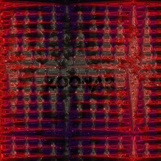 Muster von glänzenden roten und schwarzen Reflexen