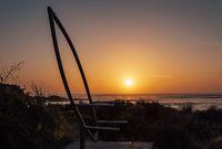 Beautiful sunrise sky at Broulee Australia