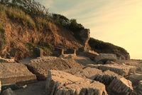 Mauer Reste an der Steilküste, Heiligenhafen