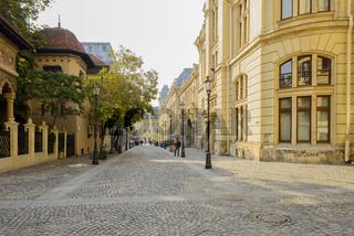 Straße in Bukarester Altstadt Lipscani
