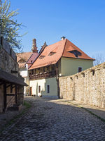 Gasse in der Altstadt von Bautzen, Sachsen, Deutschland