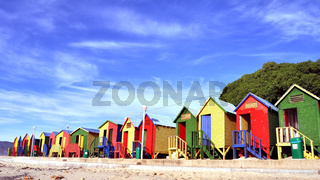 Colorful dressing huts