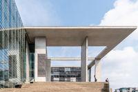 Contemporary architecture building. Concrete facade in Berlin