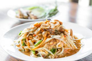 Somtum ,Thai spicy papaya salad ,erve