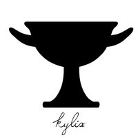tall kylix silhouette