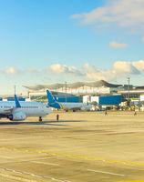 Airplanes  airport  runway  terminal  Kiev