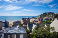 Pleneuf Val Andre city and beach view, Brittany, France