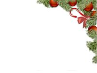 christmas decoration on white background - 3d rendering