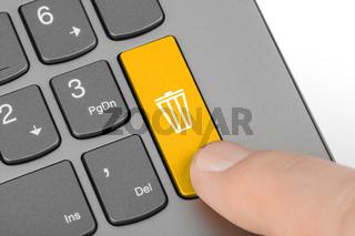Computer keyboard with garbage key