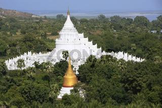 Hsinbyume Pagoda in Mingun, Mandalay region, Myanmar