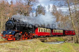 Harzer Schmalspurbahn im Selketal Harz