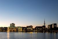 Binnenalster Lake in Hamburg, Germany