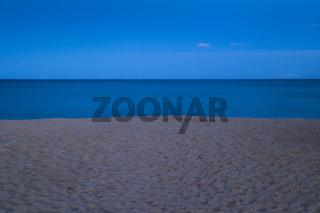 Strand, Dämmerung, Chia, Costa del Sud, Sardinien