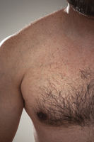 males hairy chest detail