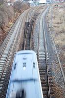 Blick auf eine Eisenbahnanlage