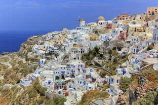 View of Oia village in the Caldera, Greece