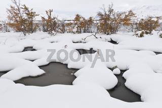 verschneite Landschaft im Tal Doeralen, Rondane Nationalpark, Hedmark