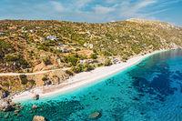 The beach Korasida in Evia, Greece