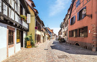 Small town Bergheim with half-timbered houses