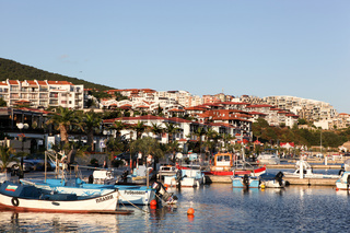SVETI VLAS - AUGUST 29: Yachtport Marina Dinevi, August 29, 2014. Sveti Vlas is a town and seaside resort on the Black Sea coast of Bulgaria, located in Nesebar municipality, Burgas Province.