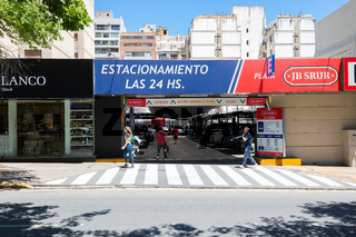 Cordoba Argentina secure parking entrance