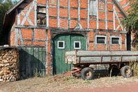 Bauernhaus mit Fachwerk in Petershagen, Nordrhein-Westfalen