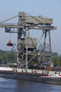 Hamburg - Kohleverladung am Kraftwerk Tiefstack