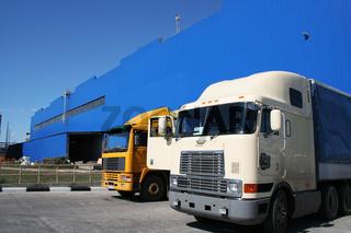 Two powerful lorries