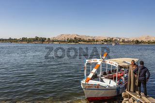 Public Baladi ferry boats costing EGP5 to cross the Nile River