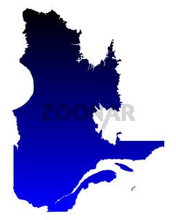 Karte von Quebec - Map of Quebec