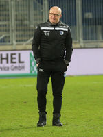 Cheftrainer Thomas Hoßmang 1.FC Magdeburg DFB 3.Liga Saison 2020-21