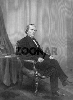 Andrew Johnson, 1808 - 1875, the 17th President of the United States