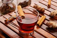 Healthy Detox Tea with Cinnamon and Turmeric for Immunity