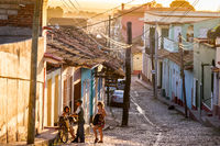 Electrical Wires in Historical Street in Trinidad, Cuba
