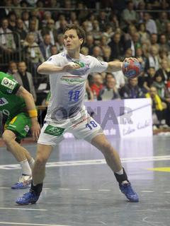 Hans Lindberg(HSV)DKB Handball-Bundesliga 2013/14 29.Spieltag,SC Magdeburg-HSV Handball in Magdeburg