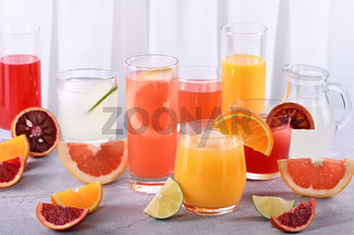 Refreshing Fresh Detox Citrus Juices