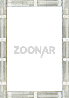 Wooden Borders White Background