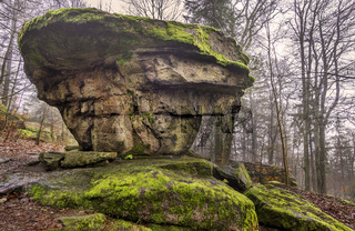Felsen am Grossen Waldstein im Fichtelgebirge