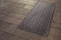 city pavement hatch