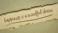 happiness is a mindful choice inspirational note