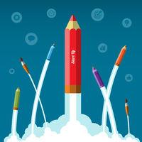 Flat design vector business startup concept