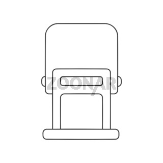 Self Inking Business Stamp Icon Vector