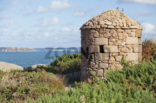 Cote de Granit Rose small tower and view