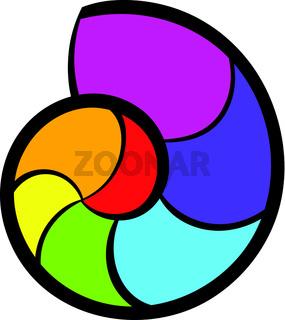 Snail rainbow icon, icon cartoon