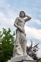 Topless female statue in Vienna city park