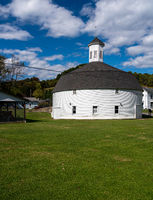 Hamilton round barn and museum in Mannington West Virginia