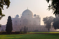 Famous Humayun's Tomb of India, New Delhi downtown