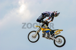 Stunt Motorcyclist at the Hop Farm in Kent